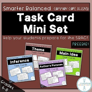 Smarter Balanced Task Card Mini Set