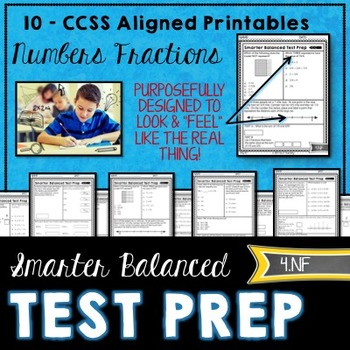 Math TEST PREP for 4th grade NF by Tied 2 Teaching | TpT