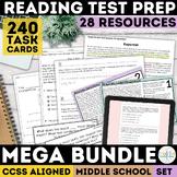 Common Core Reading Test Prep Mega Bundle   SBAC   Print &
