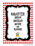 Smartie Mean Median Mode Range Data Activity