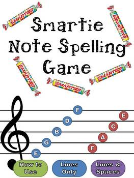 Smartie Note Spelling Game