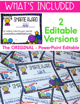 End of the Year Awards - Editable - Smartie Student Awards