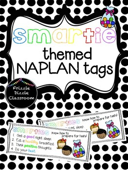 Smartie (large) Themed NAPLAN Test Tags!
