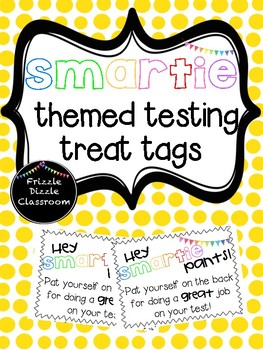 Smartie (small) Themed Testing Treat Tags!
