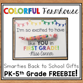 Smarties Back to School Gift - COLORFUL FARMHOUSE
