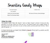 Smarties Candy Wraps