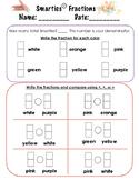 Smarties Fraction Comparisons
