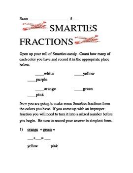Smarties Fractions