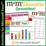Microsoft Excel Spreadsheet and Graph Skills - M&M's Scenario