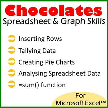 Microsoft Excel Spreadsheet and Graph Skills - M&M's Scenario