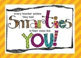 Smarties Welcome Card