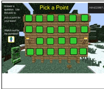 Smartnotebook Review Game - Minecraft Theme