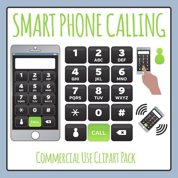 Smartphone Calling Blank Clip Art for Commercial Use