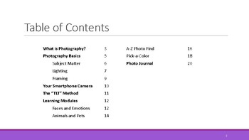 Smartphone Photography Mini-Course/Workbook for Grades 4-8
