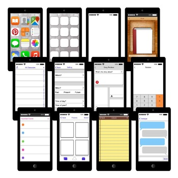 Smartphone Story Elements Graphic Organizers Printables an