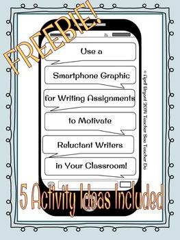 Smartphone Writing Graphic FREEBIE
