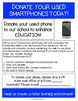 Smartphone and iPhone Donation Drive Flyer