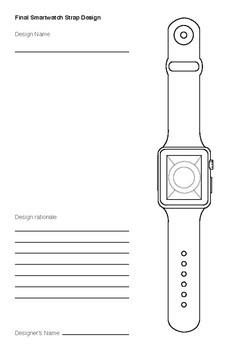 Smartwatch and Analog Watch Strap Design Templates