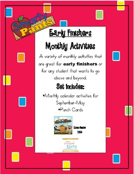 Smarty Pants Activites for Your Early Finishers