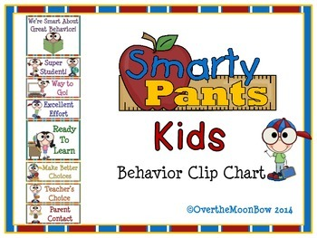 Smarty Pants Kids Behavior Clip Chart