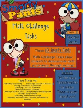 Smarty Pants Math Challenge Tasks: 60 Ready-to-Go Task Car