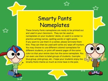 Nameplates for Desks (Smarty Pants)