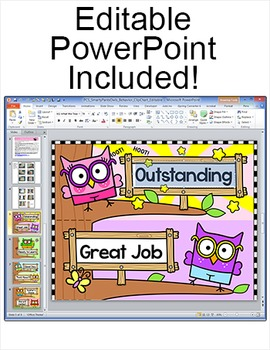 Behavior Chart - Smarty Pants Owls Theme