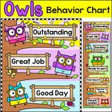 Smarty Pants Owls Theme Behavior Chart - Editable Classroom Decor
