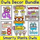 Owl Theme Classroom Decor Bundle: Name Tags, Word Wall, Te