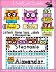 Owl Theme Classroom Decor Bundle: Name Tags, Word Wall, Te