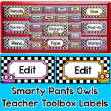 Owl Theme Teacher Toolbox Labels