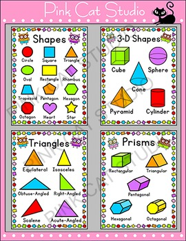 Owls Theme Shapes Posters