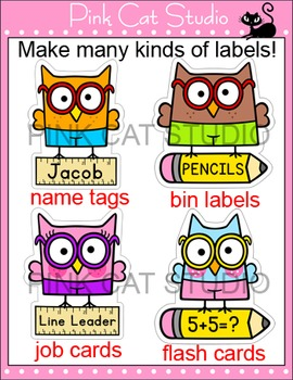 Owl Theme Name Tags and Labels