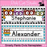 Editable Desk Name Tags - Owl Theme Classroom