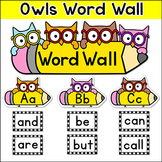 Word Wall Owl Theme - Editable