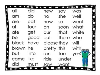 Smarty Pants Sight Words- Primer
