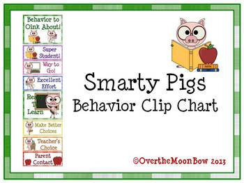 Smarty Pigs Behavior Clip Chart