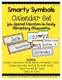 Smarty Symbols Calendar Set for Early Elementary or Special Ed Classrooms