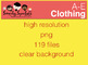 All about clothing and Accessories Graphics Set: 119 PNG Images