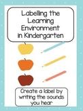 Kindergarten Learning Centre Label Templates
