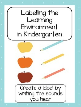 Kindergarten Learning Centre Label Templates