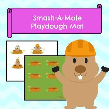 Smash-A-Mole Play Dough Mat