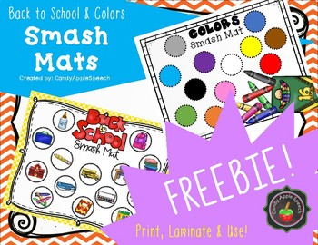 Smash Mats Freebie- Back to School and Colors