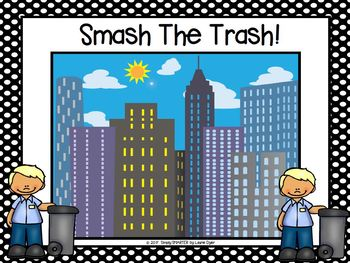 Smash The Trash:  LOW PREP Community Helper Themed Smash It Play-Doh Activity