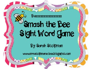 Smash the Bee Sight Word Game