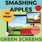Smashing Apples GREEN SCREEN Activity- Editable: NO PRINT