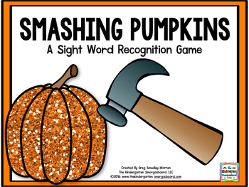 Smashing Pumpkins!  A Sight Word Recognition Creation!