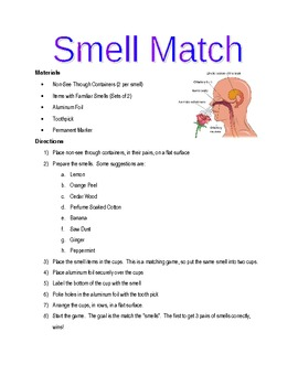 Smell Match - Individual 5 Senses Lab