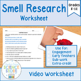 Smell Research Worksheet- FREEBIE