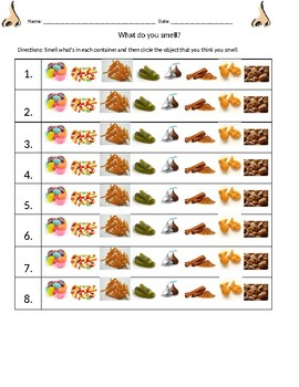 Smelling and tasting activity